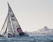 EFG Sailing Arabia - The Tour 2016. Abu Dhabi. UAE. Pictures of the start of leg 2 of the race. Abu Dhabi - Doha.  Image licensed to Lloyd Images