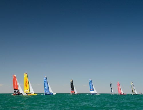 Exhilarating racing conditions produce dramatic changes to EFG Sailing Arabia
